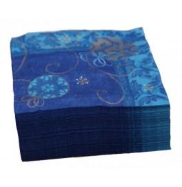Салфетки бумажные Duni Дизайнерские, цвет: GALARINA PETROL, размер 33 х 33 см.