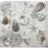 Салфетки 3-слойные, бумажные DecoPrint,РОЖДЕСТВЕНСКИЙ ГОРОД,  размер 33 х 33 см, 20 штук