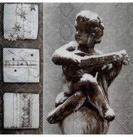 Салфетки 3-слойные, бумажные DecoPrint,  Снежный Ангел, размер 33 х 33 см, 20 штук