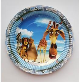Тарелка бумажная круглая. Диаметр: 23 см. Мадагаскар