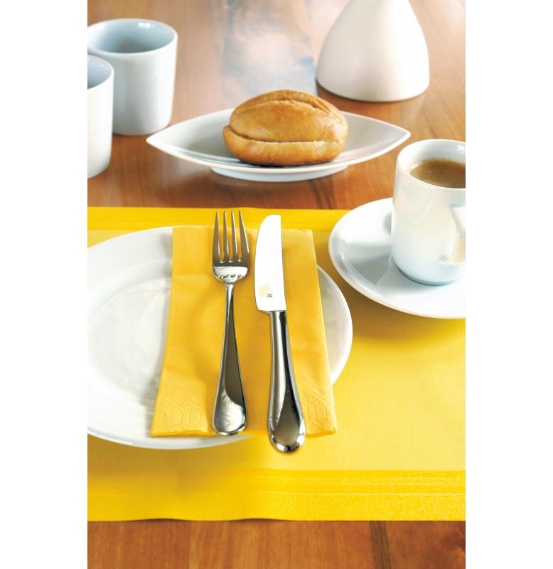 Салфетки бумажные Duni, 2-слойные, цвет: Жёлтый, размер салфетки в разложенном виде 24 х 24
