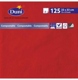 Салфетки Duni двухслойные красные