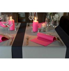Салфетки бумажные Dunisoft Airlaid, цвет: фуксия, размер 40 х 40 см, 12 шт