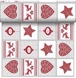 Скатерть – дорожка DUNICEL дизайнерская. Размер: 0,4 х 4.8 м. Цвет: Nordic Christmas, 1 штука