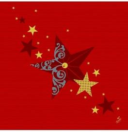 Скатерть (наперон) DUNICEL 84 х 84 см, дизайнерские. Цвет: WALK OF FAME RED. 1 штука