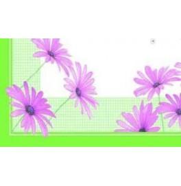 Скатерть (наперон) 84 см х 84 см, дизайнерская с водостойким покрытием. Цвет: розовый цветок. 1 штука