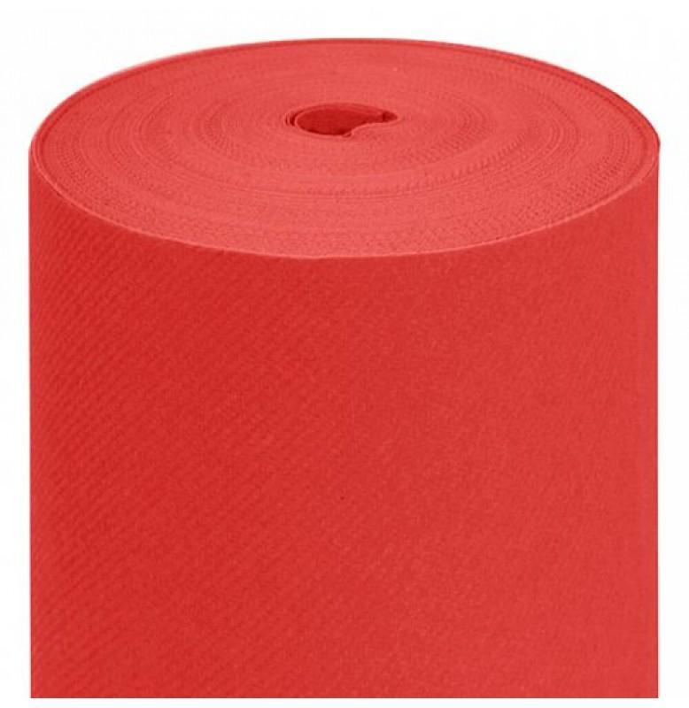 Скатерть DUNICEL 1,25 х 10 м банкетная в рулонах. Цвет: красный. 1 штука