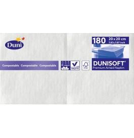 Салфетки бумажные Dunisoft Airlaid, цвет: Белый, размер 20 х 20 см, 180 штук
