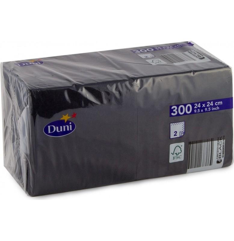 Салфетки 2-слойные, бумажные Duni, цвет: Серый гранит, размер 24 х 24 см