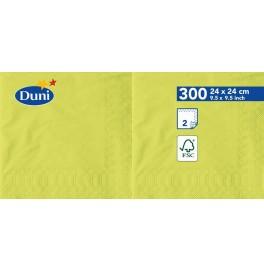Салфетки 2-слойные, бумажные Duni Tissue, цвет: Киви, размер 24 х 24 см, 300 штук