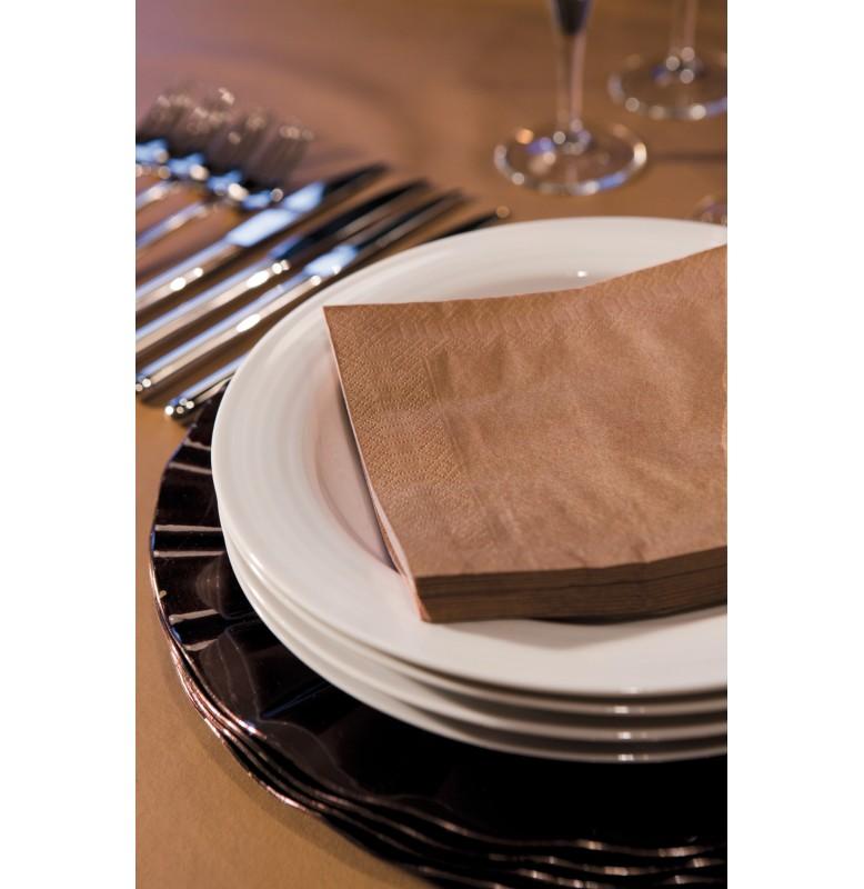 Салфетки 2-слойные, бумажные Duni, цвет: Кофейный, размер 24 х 24 см