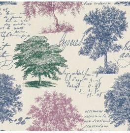 Салфетки 3-слойные, бумажные Duni Tissue, дизайнерские. Цвет: MY FOREST VIEW, размер 24 х 24 см, 20 штук