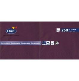 Салфетки 3-слойные, бумажные Duni Tissue, цвет: Слива, размер 24 х 24 см, 250 штук