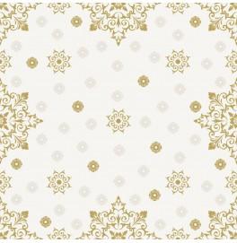 Салфетки 3-слойные, бумажные Duni Tissue, дизайнерские. Цвет: CHRISTMAS DECO CREAM, размер 24 х 24 см, 20 штук
