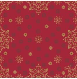 Салфетки 3-слойные, бумажные Duni Tissue, дизайнерские. Цвет: CHRISTMAS DECO RED, размер 24 х 24 см, 20 штук