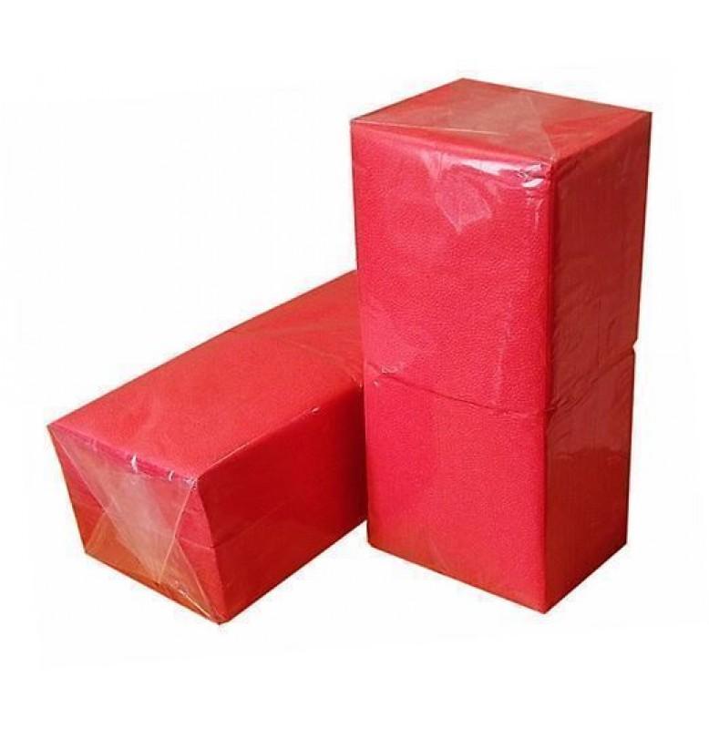 Салфетки 1-слойные, бумажные Duni Tissue, цвет: Красный, размер 33 х 33 см, 500 штук  Акция!
