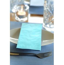 Салфетки 2-слойные, бумажные Duni Tissue, цвет: Голубой, размер 33 х 33 см, 125 штук