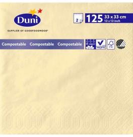 Салфетки 2-слойные, бумажные Duni Tissue, цвет: Ваниль, размер 33 х 33 см, 125 штук