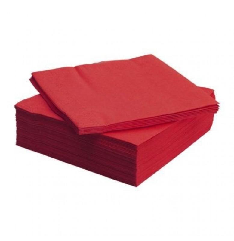 Салфетки 2-слойные, бумажные Duni Tissue, цвет: Красный, размер 33 х 33 см, 125 штук