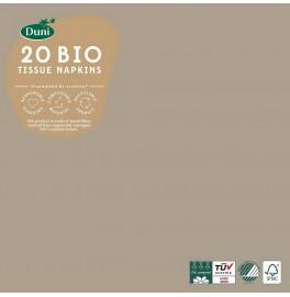 Салфетки 3-слойные, бумажные Duni Tissue, цвет: Серо-бежевый, размер 33 х 33 см, 20 штук