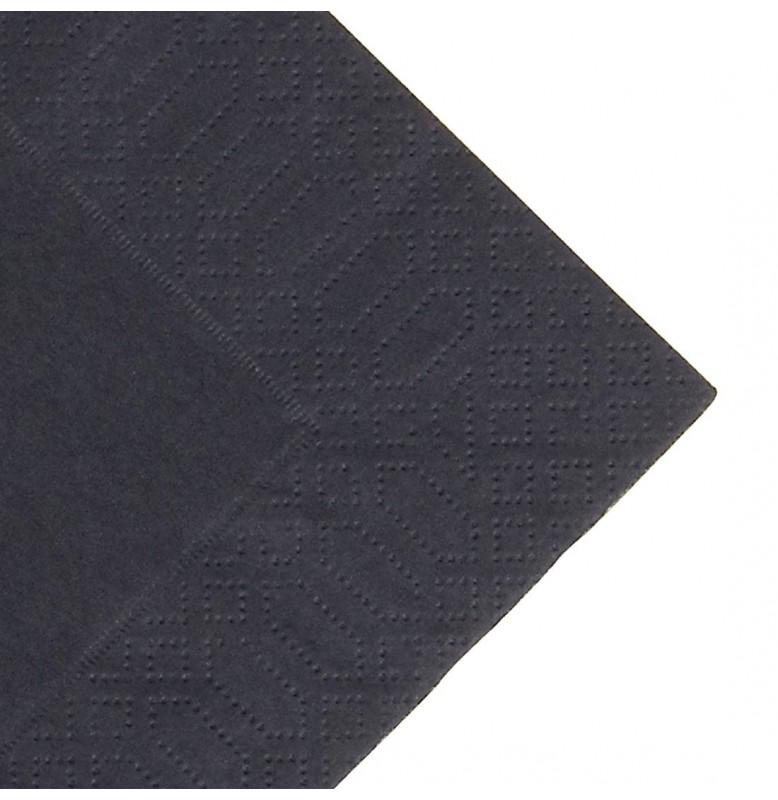 Салфетки 3-слойные, бумажные Duni Tissue, цвет: Чёрный, размер 33 х 33 см, 20 штук