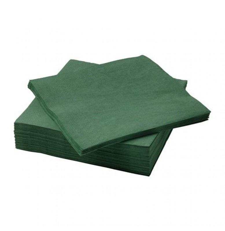 Салфетки 3-слойные, бумажные Duni Tissue, цвет: Тёмно-зелёный, размер 33 х 33 см, 20 штук