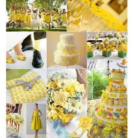 Салфетки 3-слойные, бумажные Duni Tissue, цвет: Жёлтый, размер 33 х 33 см, 50 штук