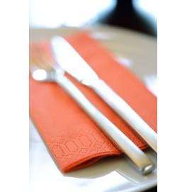 Салфетки 3-слойные, бумажные Duni Tissue, цвет: Мандарин, размер 33 х 33 см, 50 штук