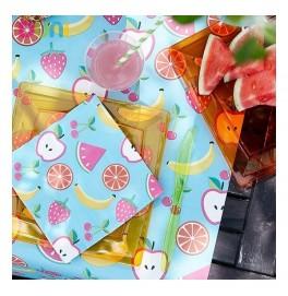 Салфетки 3-слойные, бумажные Duni Дизайнерские, цвет: FRUTIS, размер 33 х 33 см. 20 штук