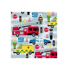 Салфетки 3-слойные, бумажные Duni Дизайнерские, цвет: POLICE, размер 33 х 33 см. 20 штук