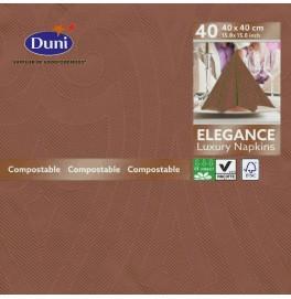 Салфетки бумажные ELEGANCE LILY 40х40 см, цвет: кофе, размер 40 х 40 см, 40 штук