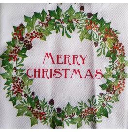 """Салфетки бумажные, цвет : """"MERRY CHRISTMAS"""", размер 40х40, 12 штук"""