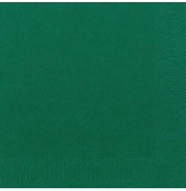 Салфетки 3-слойные, бумажные Duni Tissue, цвет: Тёмно-зелёный, размер 40 х 40 см, 20 штук