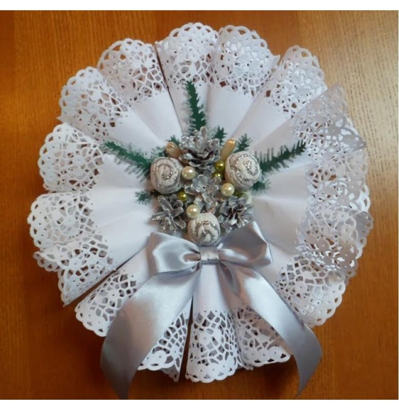 Кружевные салфетки Doilies, D17 см, круглые, Цвет: белый; 250 шт