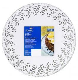 Кружевные салфетки Doilies, D30 см, круглые, Цвет: белый; 250 шт
