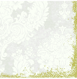 Салфетки бумажные Duni Classic дизайнерские, цвет: Royal Белый, размер 40 х 40 см, 4-х слойные, 50 листов