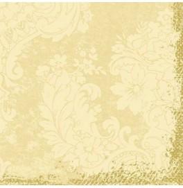 Салфетки бумажные Duni Classic дизайнерские, цвет: Royal Ваниль, размер 40 х 40 см, 4-х слойные, 10 штук