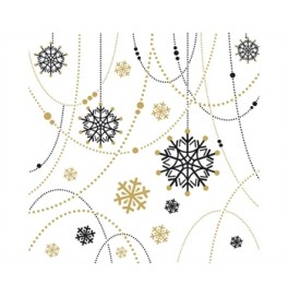 Салфетки бумажные Dunilin, цвет: SNOWFLAKE, размер 40 х 40 см, 50 штук