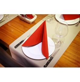 Салфетки бумажные Dunilin, цвет: Красный, размер 40 х 40 см, 50 штук