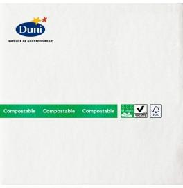 Салфетки бумажные Dunilin Brilliance (с блёсткой), цвет: Белый, размер 40 х 40 см, 10 штук