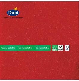 Салфетки бумажные Dunilin Brilliance (с блёсткой), цвет: Красный, размер 40 х 40 см, 10 штук