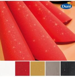 Салфетки бумажные Dunilin Brilliance (с блёсткой), цвет: Чёрный, размер 40 х 40 см, 10 штук