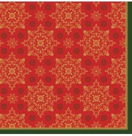 Салфетки бумажные Dunilin, цвет: CHRISTMAS DECO RED, размер 40 х 40 см, 12 штук
