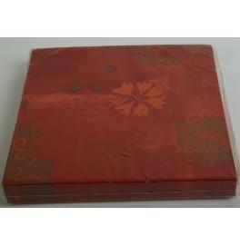 Салфетки бумажные Dunilin, цвет: Терракот, размер 40 х 40 см, 12 штук