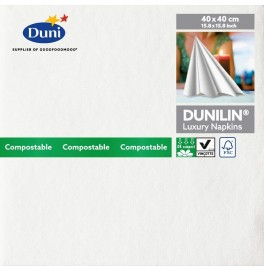 Салфетки бумажные Dunilin, цвет: белый, размер 40 х 40 см, 12 штук