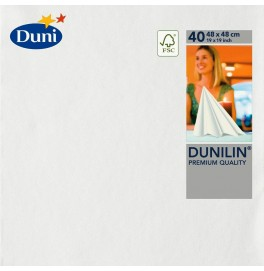 Салфетки бумажные Dunilin, цвет: Белый, размер 48 х 48 см, 40 штук