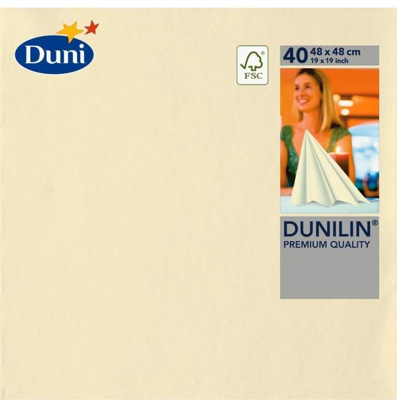 Салфетки бумажные Dunilin, цвет: Ваниль, размер 48 х 48 см, 40 штук