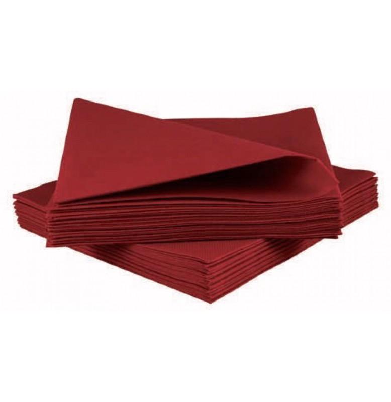Салфетки бумажные Dunisoft Airlaid, цвет: Бордо, размер 40 х 40 см, 60 штук