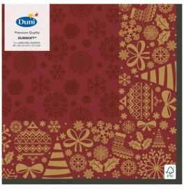 Салфетки бумажные Dunisoft, цвет: DIVINE, размер 40 х 40 см, 12 штук