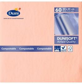 Салфетки бумажные Dunisoft Airlaid, цвет: Розовый, размер 40 х 40 см, 60 штук